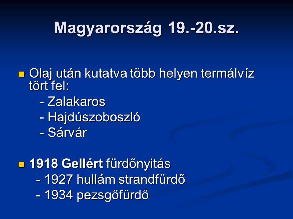 Magyarország 19.-20.sz.