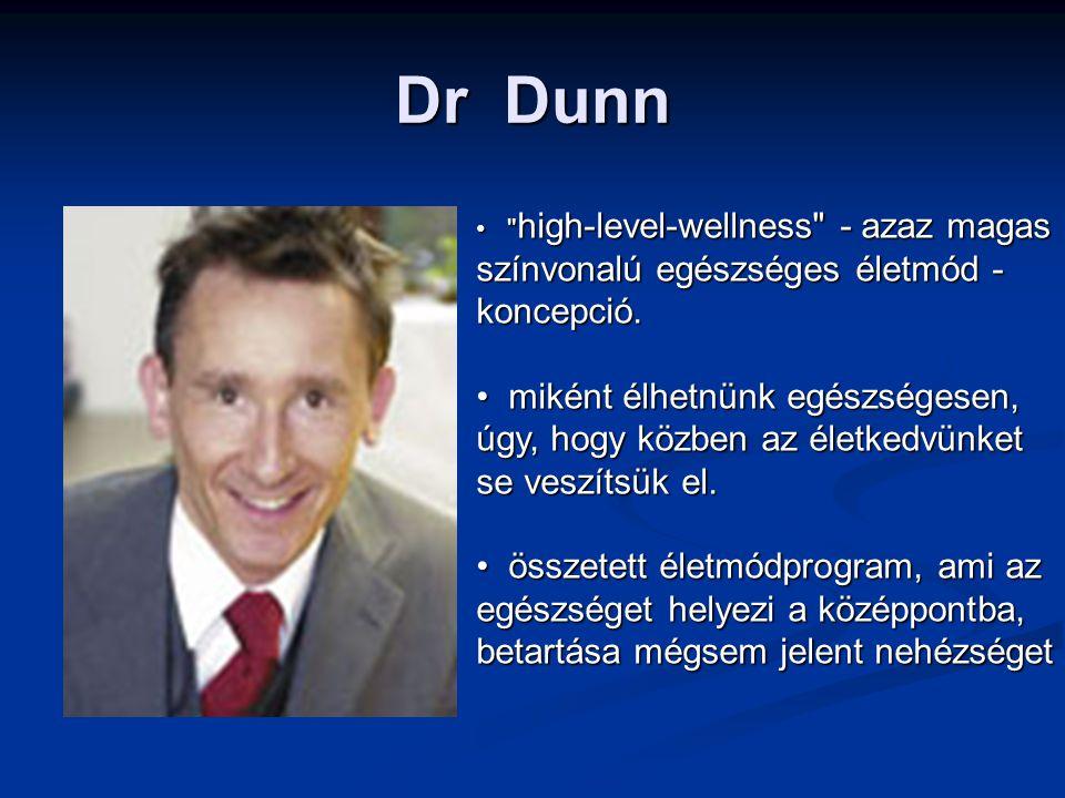 Dr Dunn high-level-wellness - azaz magas színvonalú egészséges életmód - koncepció.