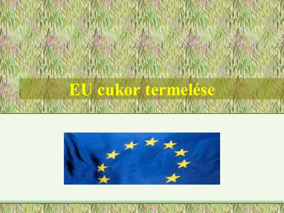 EU cukor termelése
