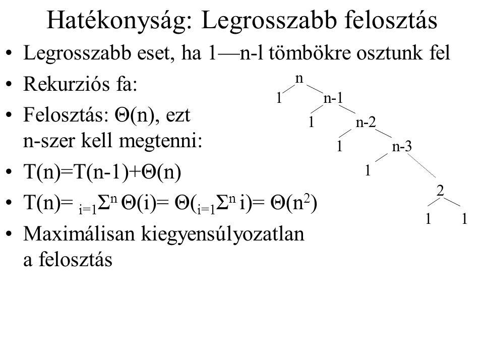 (rész)-Példa 5, 3, 2, 6, 4, 1, 3, 7őr=5 5, 3, 2 | 6, 4, 1, 3 | 7csere 6  3 5, 3, 2, 3, 4, 1| 6, 7felosztva 1-6 között, tovább bal fél 5, 3, 2, 3, 4,