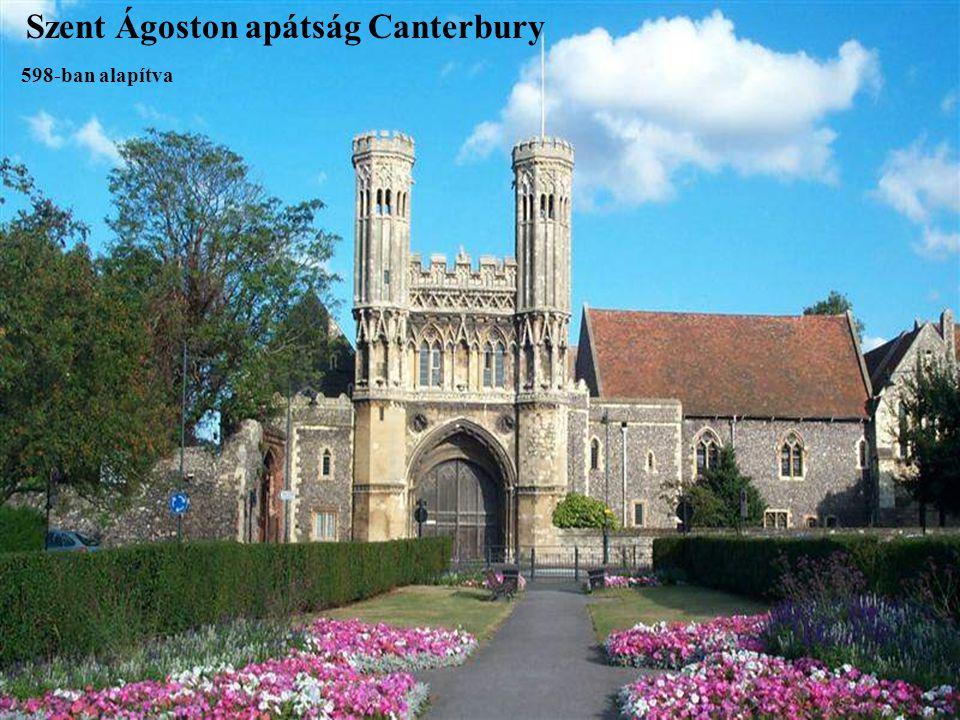 Szent Ágoston apátság Canterbury 598-ban alapítva