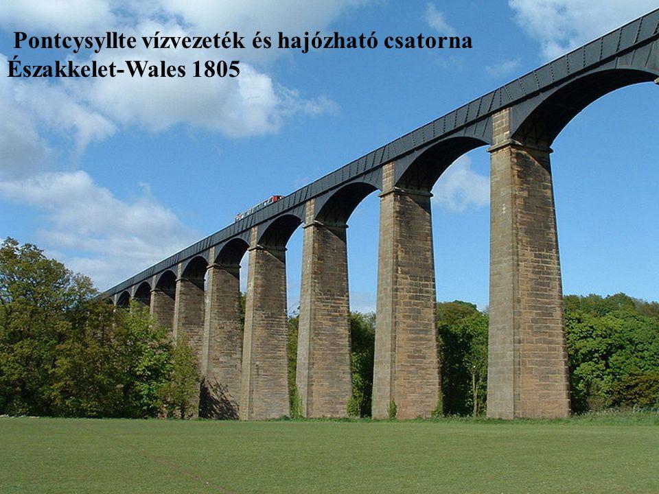 Pontcysyllte vízvezeték és hajózható csatorna Északkelet-Wales 1805