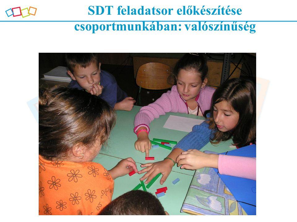 SDT feladatsor előkészítése csoportmunkában: valószínűség