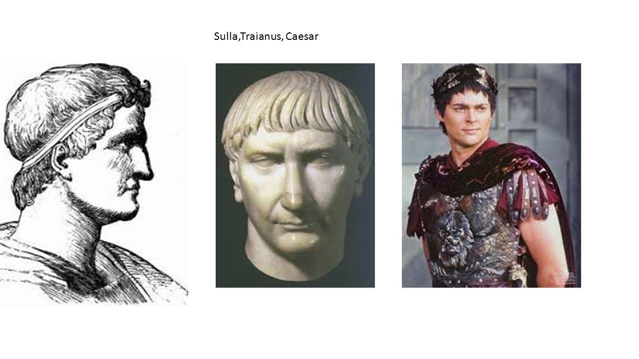 Akadtak császárok, mint Nero, akik hajfürtjeiket felbodorították vagy Marcus Aurelius, aki rövidre nyírott hajának fürtjeit a divatnak megfelelően apró csigákba süttette.