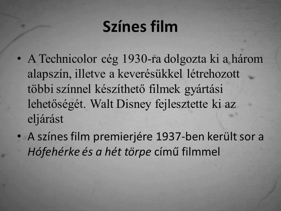 A számítógépes film Az 1980-as – 1990-es évekre a számítógépek fejlődésével egyre inkább elterjedt a CGI (Computer-Generated Imagery - számítógép generálta ábrázolás) Ez egyre inkább meggyőzőbbé, könnyebbé és olcsóbbá vált, így egyre inkább kiszorította a maketten alapuló ábrázolást