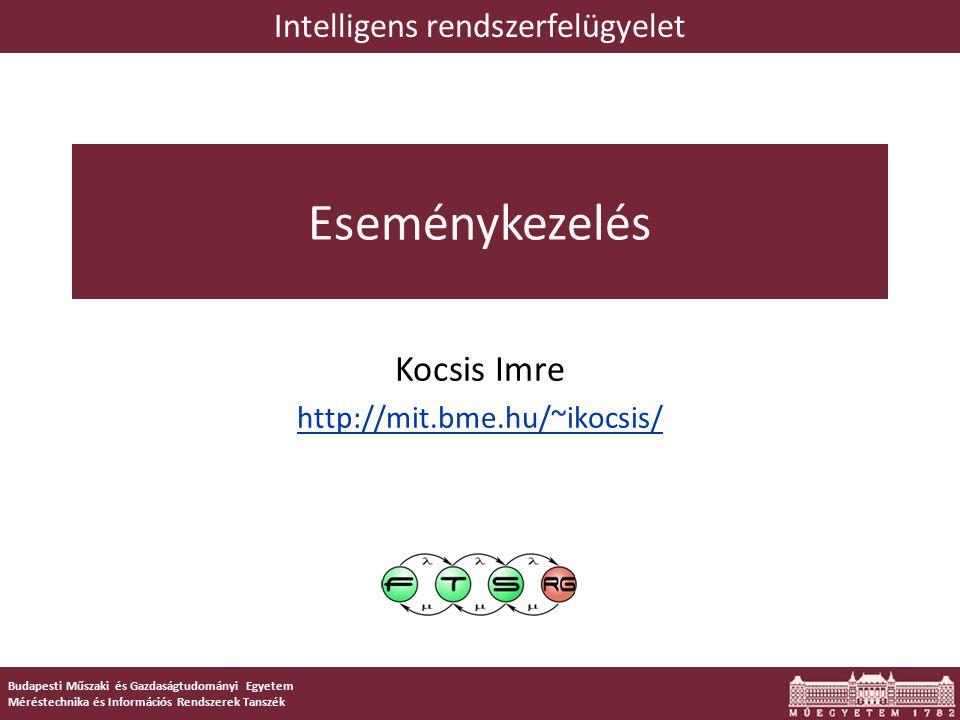 """12 Az """"eseménykezelés aspektusai SNMP IODEF/ IDMEF CIM-XML/ WS-Man."""