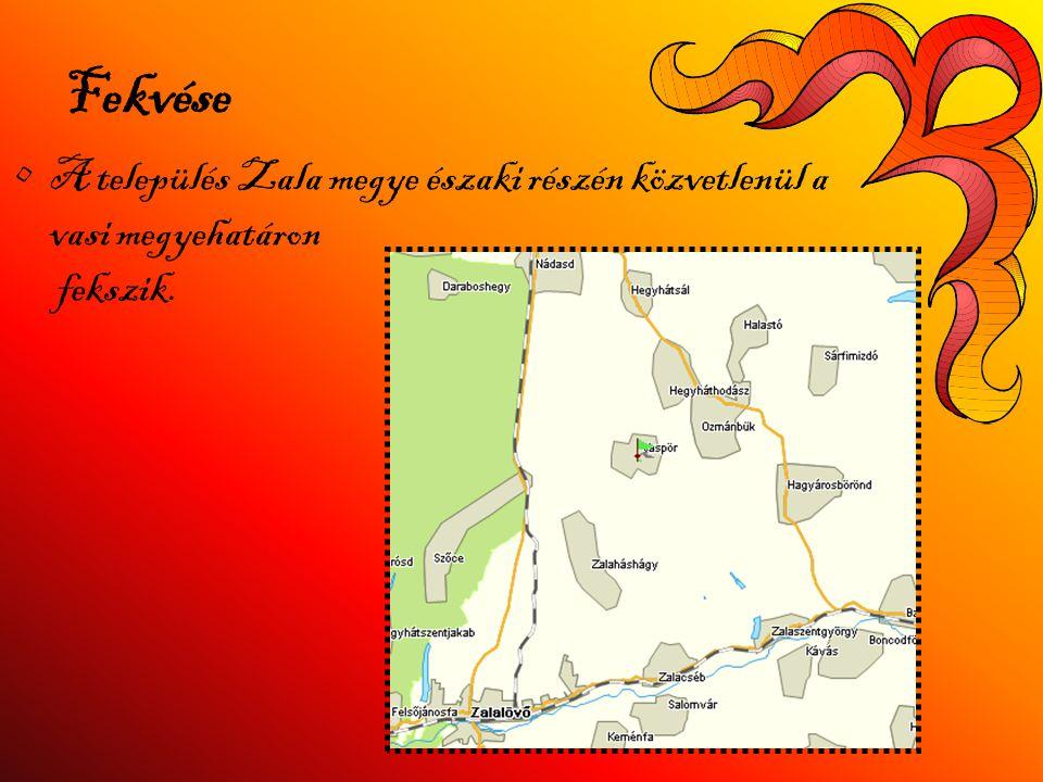 Fekvése A település Zala megye északi részén közvetlenül a vasi megyehatáron fekszik.