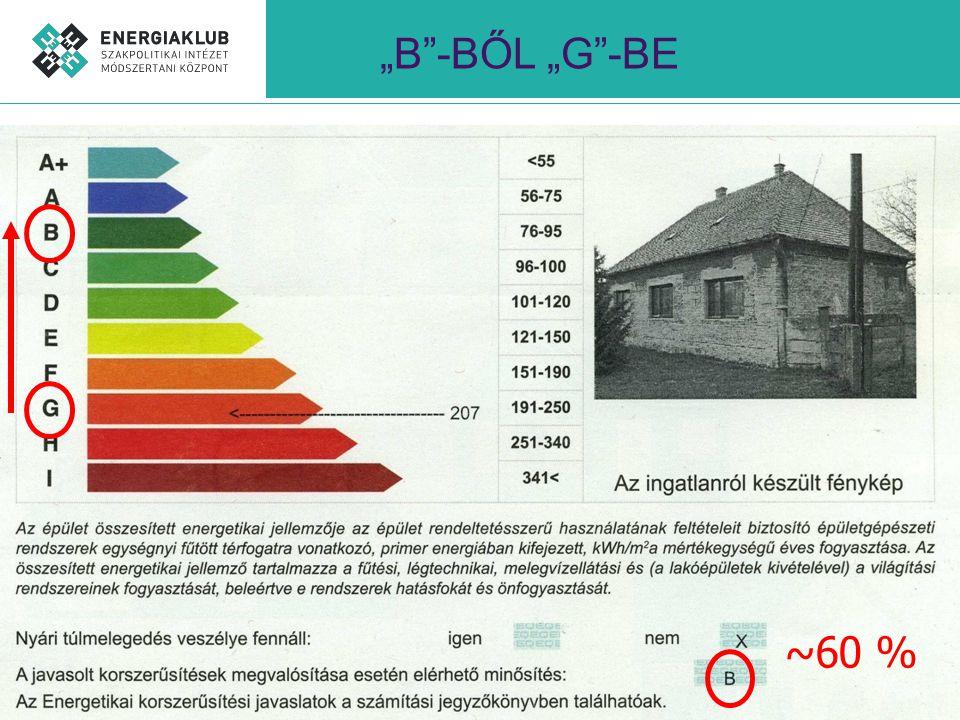 """""""B -BŐL """"G -BE ~60 %"""