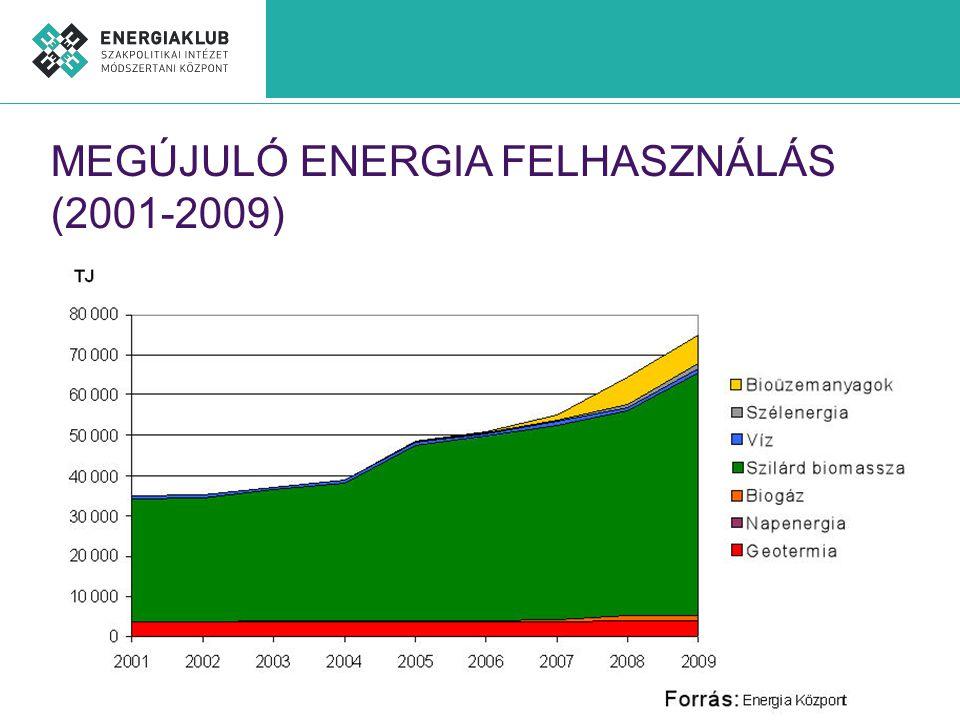 MEGÚJULÓ ENERGIA FELHASZNÁLÁS (2001-2009)