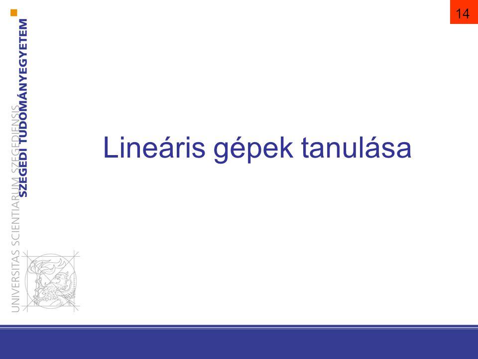 14 Lineáris gépek tanulása