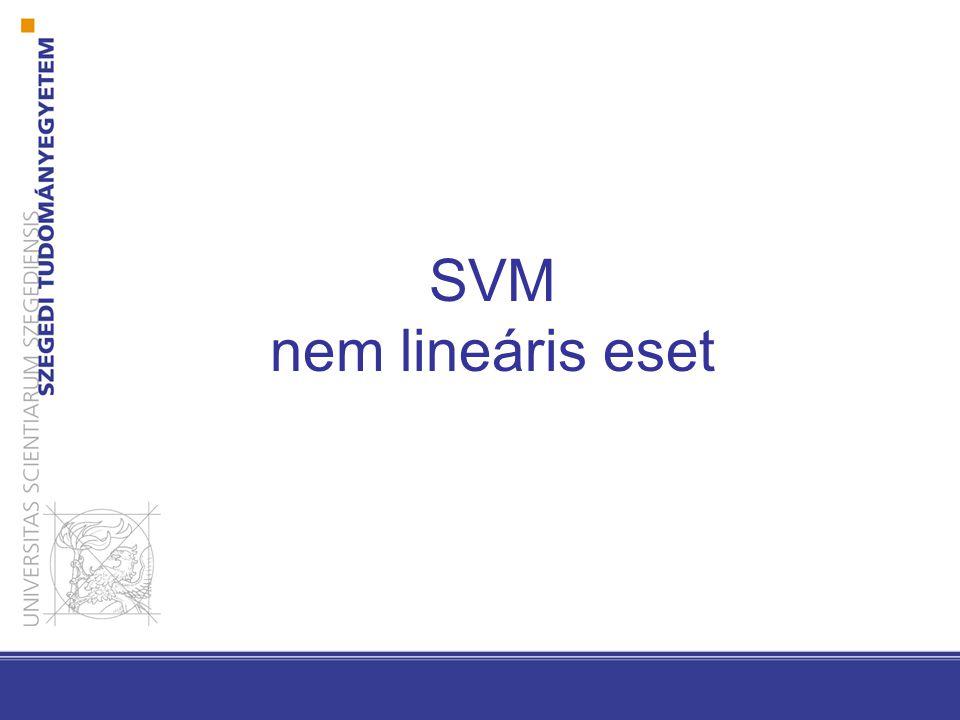 SVM nem lineáris eset