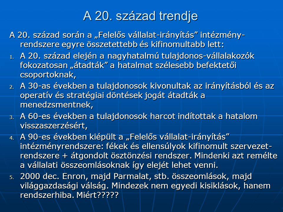 A 20. század trendje A 20.