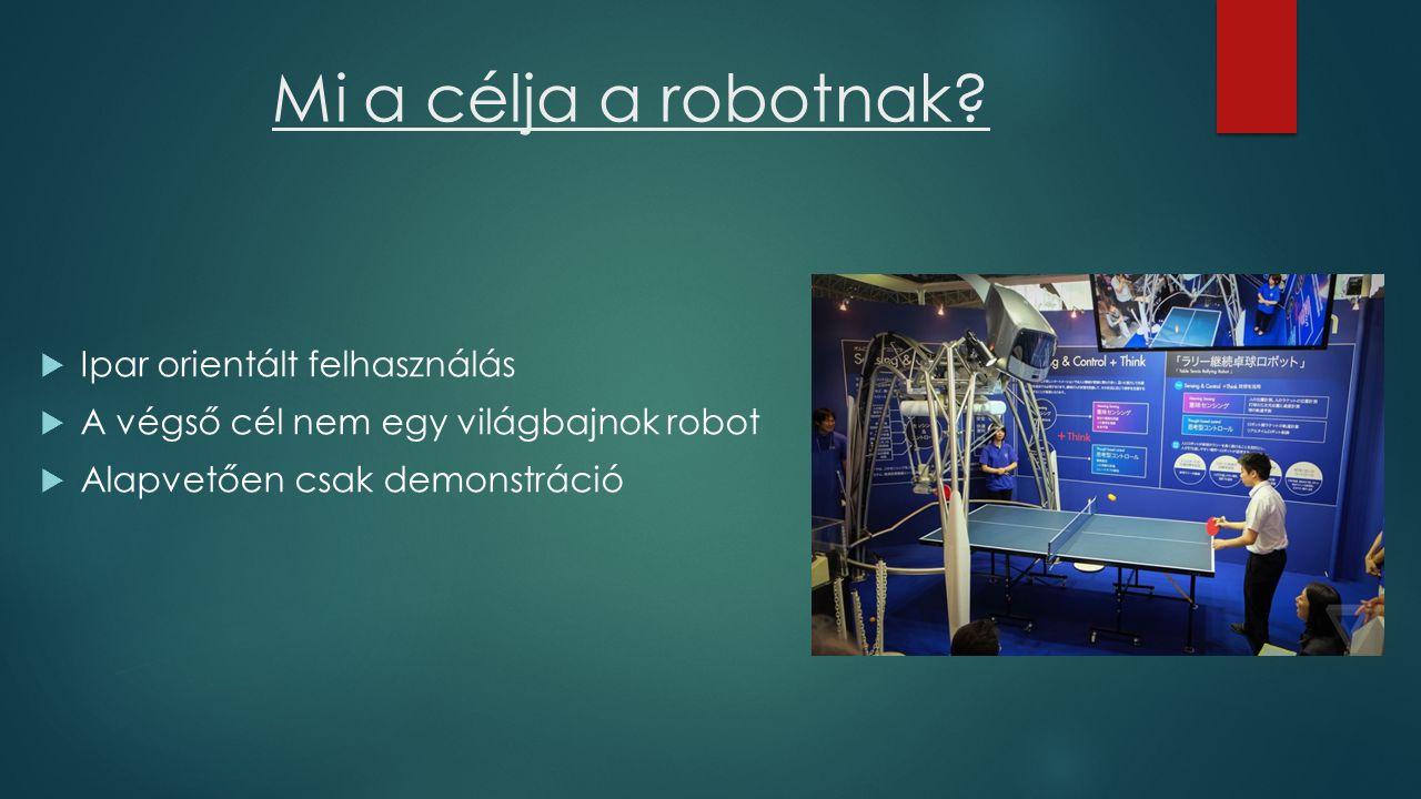 Mi a célja a robotnak.