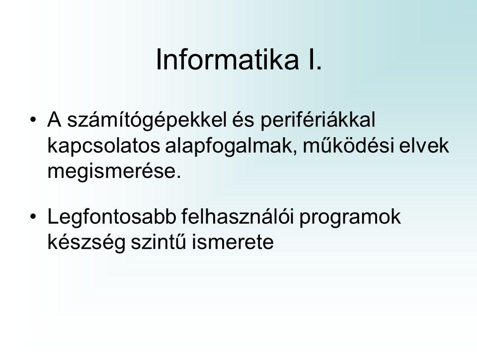 Számítógép működése Program : –a számítógép operatív memóriájában található, egymást követő rekeszekben elhelyezve, az egymás után végrehajtandó utasítások sorozataként.