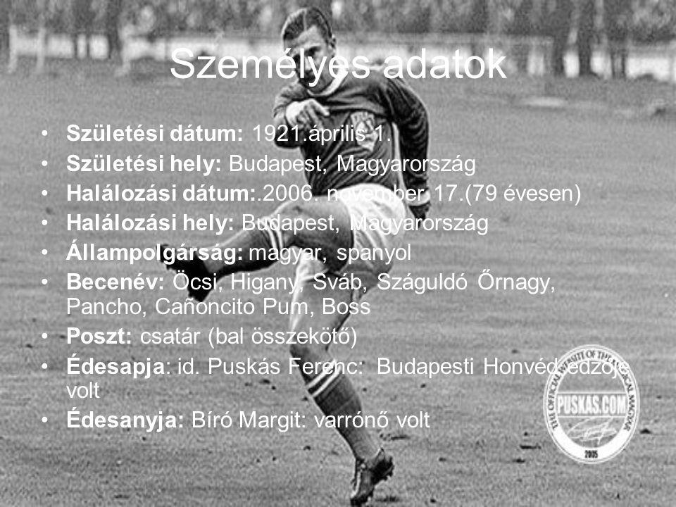 Élete Gyermekkorától kezdve remekül futballozott Kispesten Megházasodott és egy lánya született (Anikó) 1952-ben Magyarország Olimpiai bajnok lett 1956-ban Olaszországba emigrált 1958-ban Real Madrid csapatába szerződött 1966-ban visszavonult és a Panathinaikosz edzője lett 2000-től kórházi kezelésre szorult (már Budapesten) 2006-ban halt meg (Budapesten)