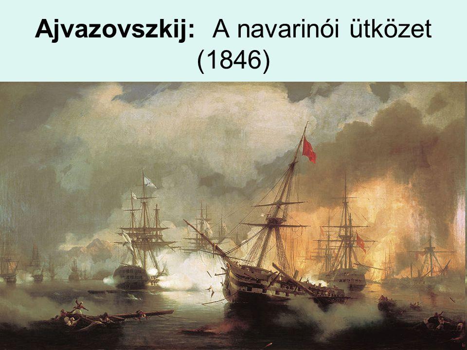 Ajvazovszkij: A navarinói ütközet (1846)