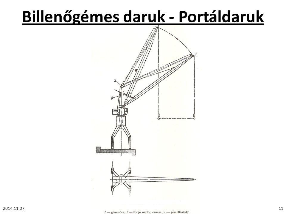 Billenőgémes daruk - Portáldaruk 2014.11.07.11