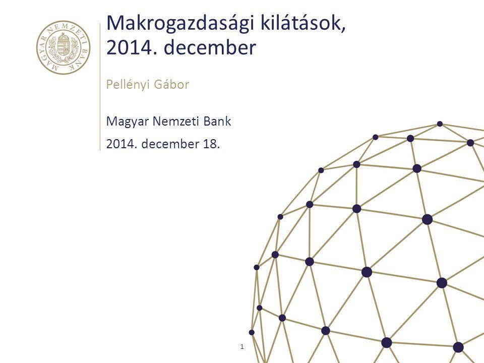 Makrogazdasági kilátások, 2014. december Magyar Nemzeti Bank Pellényi Gábor 1 2014. december 18.