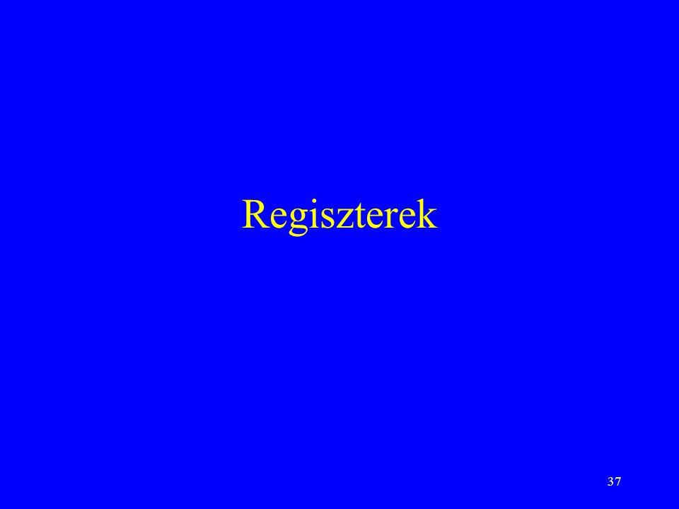 37 Regiszterek