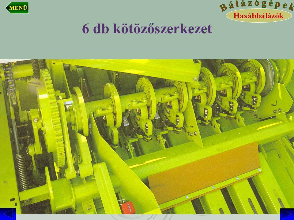 6 db kötözőszerkezet Hasábbálázók MENÜ