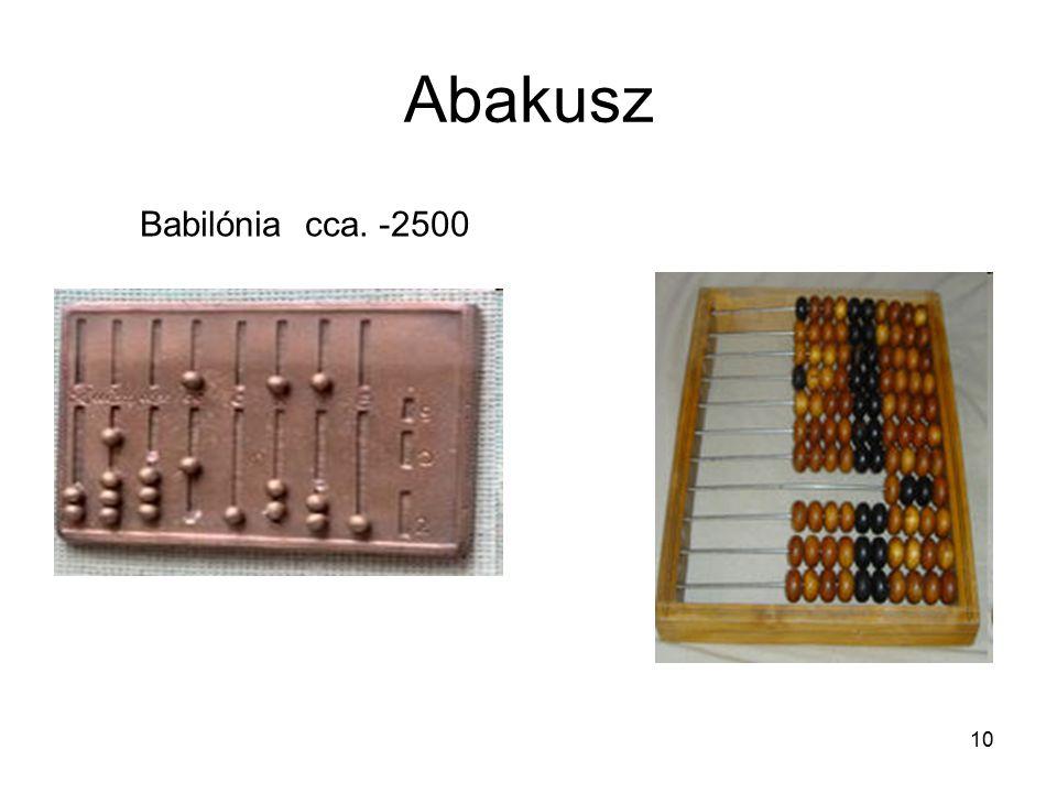 10 Abakusz Babilónia cca. -2500