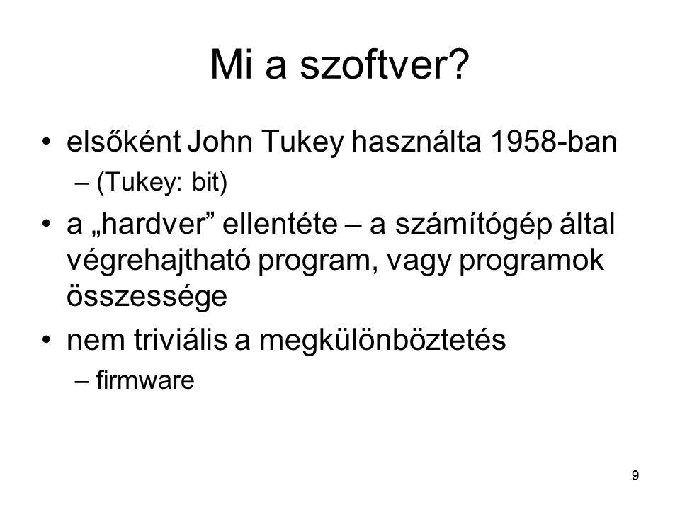 9 Mi a szoftver.
