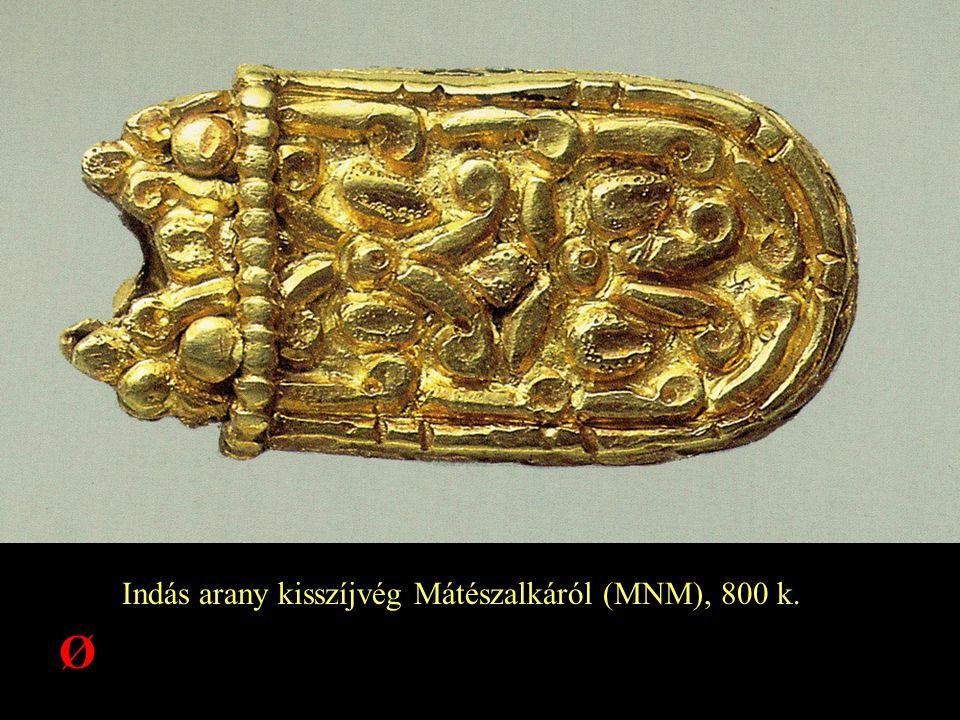 Indás arany kisszíjvég Mátészalkáról (MNM), 800 k. Ø