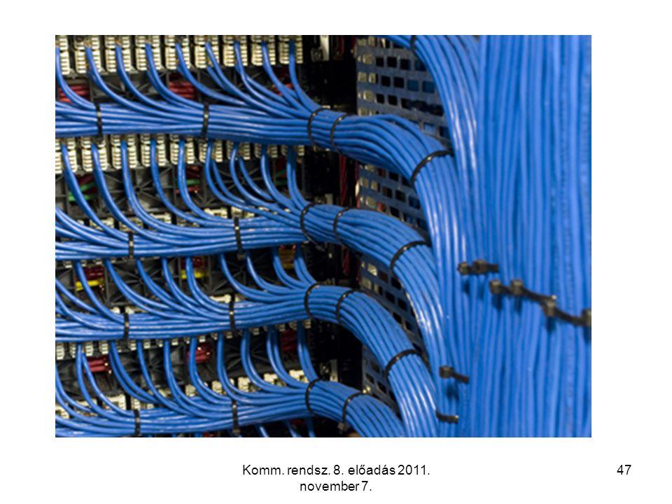 Komm. rendsz. 8. előadás 2011. november 7. 47