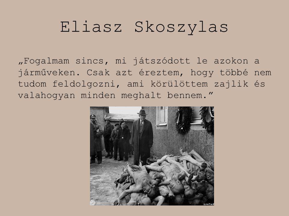 """Eliasz Skoszylas """"Fogalmam sincs, mi játszódott le azokon a járműveken. Csak azt éreztem, hogy többé nem tudom feldolgozni, ami körülöttem zajlik és v"""