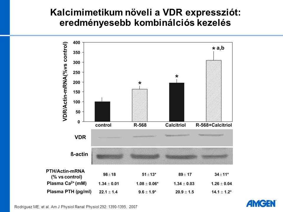 Kalcimimetikum növeli a VDR expressziót: eredményesebb kombinálciós kezelés Rodriguez ME, et al. Am J Physiol Renal Physiol 292: 1390-1395, 2007