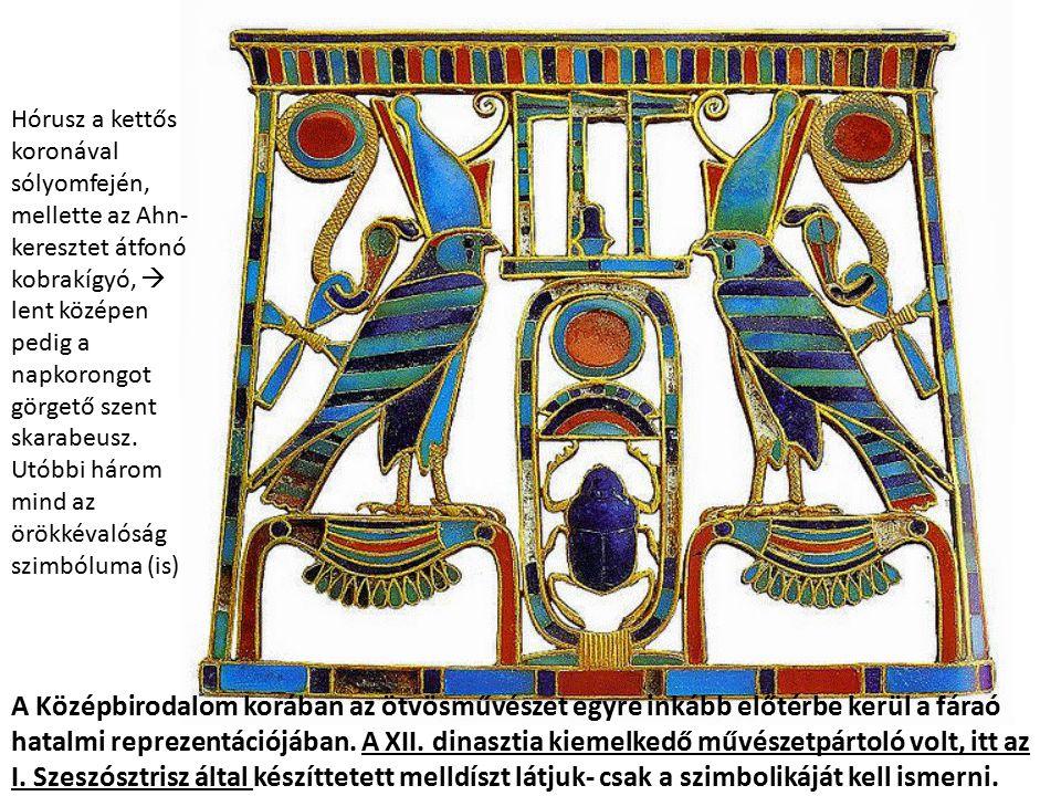 A Középbirodalom korában az ötvösművészet egyre inkább előtérbe kerül a fáraó hatalmi reprezentációjában. A XII. dinasztia kiemelkedő művészetpártoló