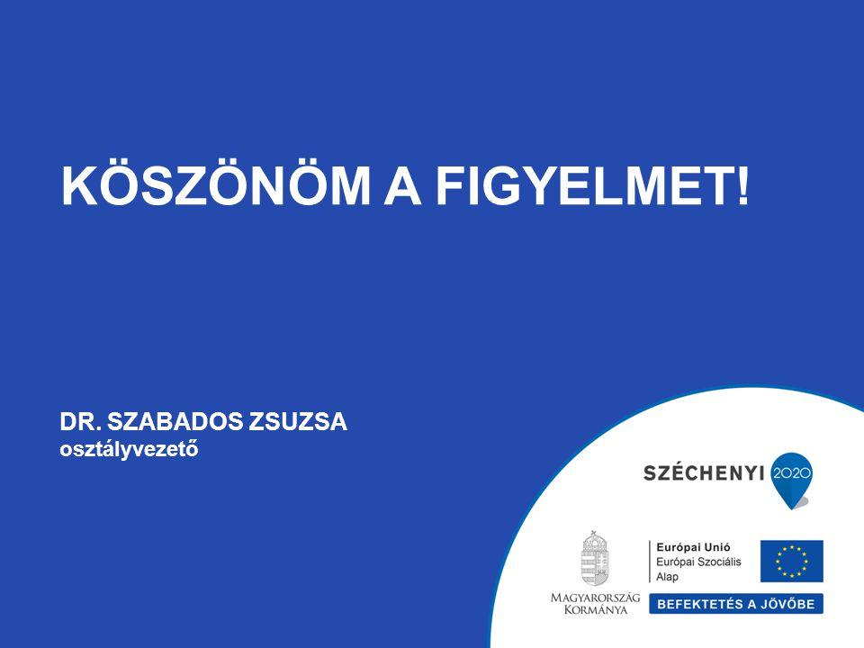 KÖSZÖNÖM A FIGYELMET! DR. SZABADOS ZSUZSA osztályvezető