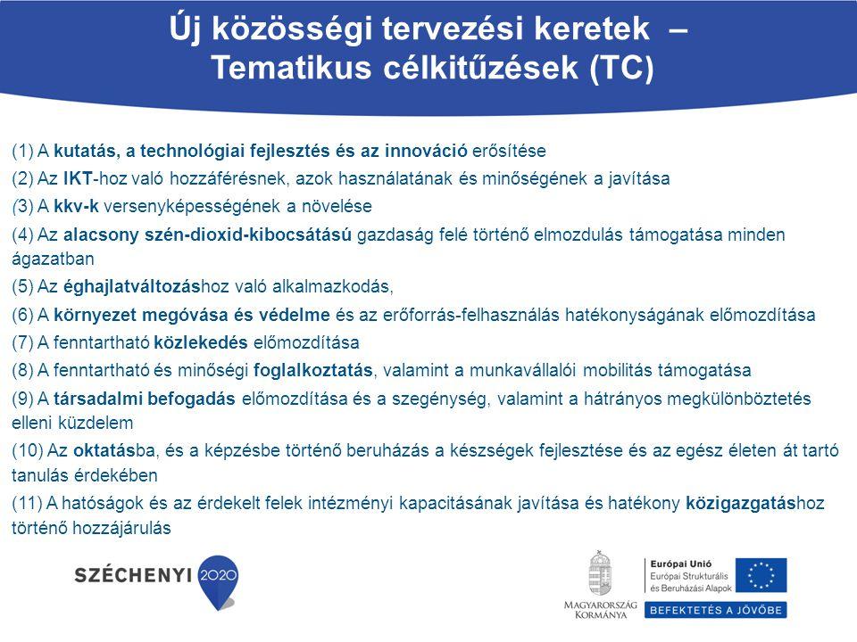 (1) A kutatás, a technológiai fejlesztés és az innováció erősítése (2) Az IKT-hoz való hozzáférésnek, azok használatának és minőségének a javítása (3)