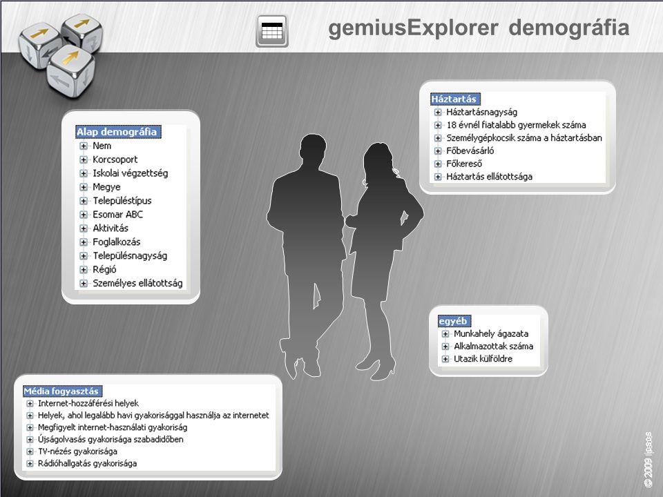 41 slide © 2009 Ipsos gemiusExplorer demográfia
