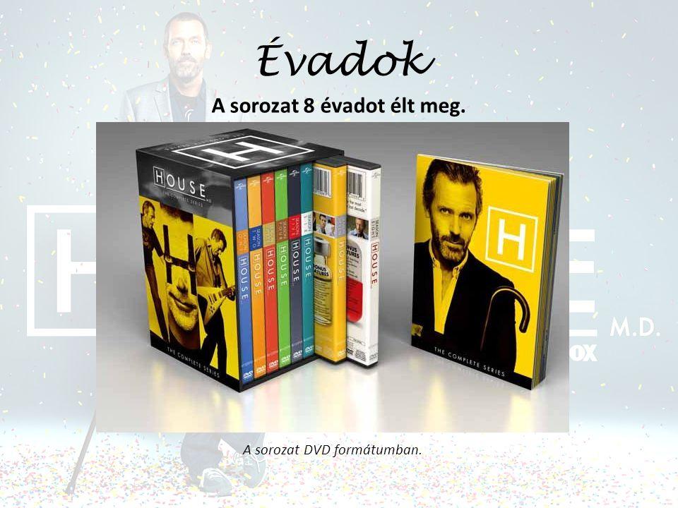 Évadok A sorozat 8 évadot élt meg. A sorozat DVD formátumban.
