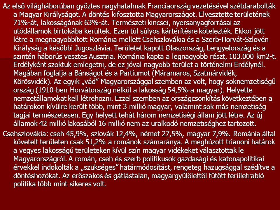 1938-ban a Felvidék egy részének visszacsatolásával az ott élő magyarok – a lakosság 84,5%-a – néhány évre fellélegezhettek.