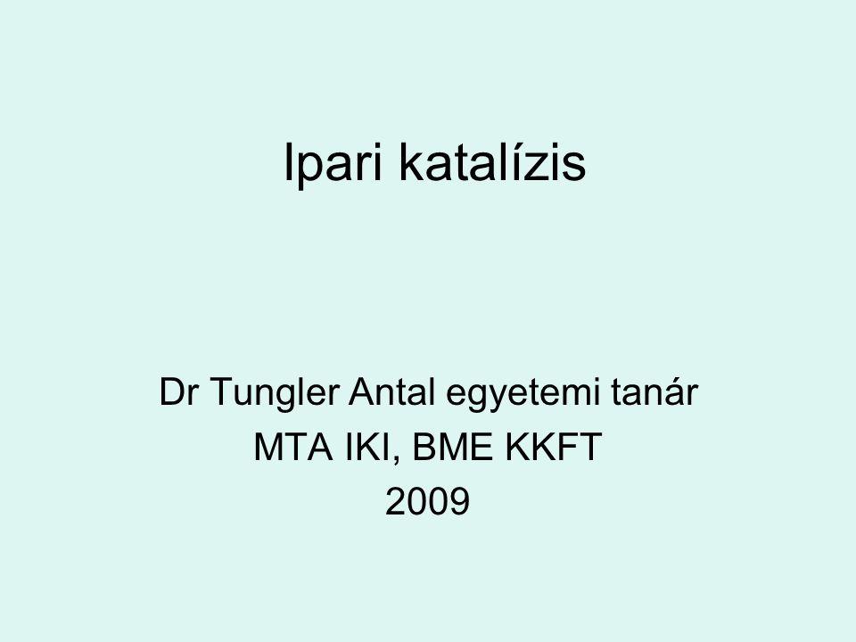 Ipari katalízis Dr Tungler Antal egyetemi tanár MTA IKI, BME KKFT 2009