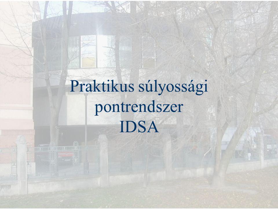 Praktikus súlyossági pontrendszer IDSA