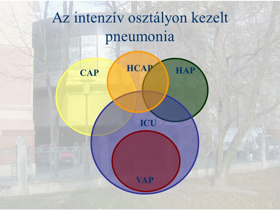 CAP HAP VAP Az intenzív osztályon kezelt pneumonia HCAP ICU