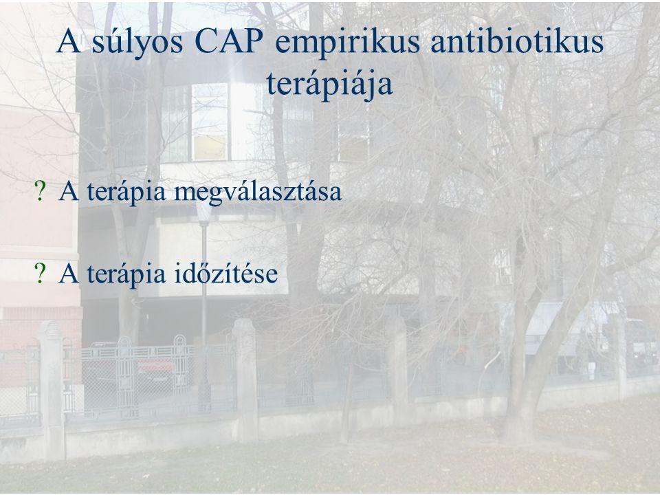 A súlyos CAP empirikus antibiotikus terápiája ?A terápia megválasztása ?A terápia időzítése