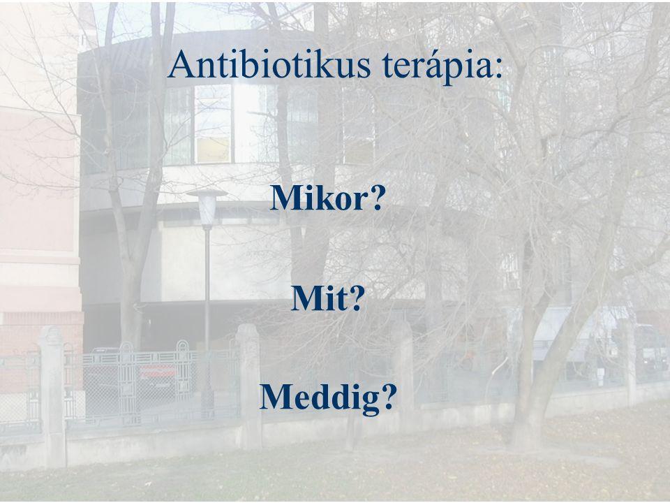 Mikrobiológiai diagnózis Alsó légúti minták quantitatív tenyésztése: Bronchoscoposan, vagy anélkül levett: Trachea bakt.