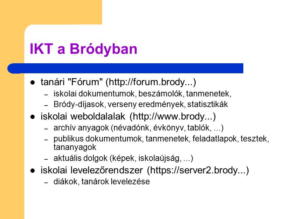 IKT a Bródyban tanári