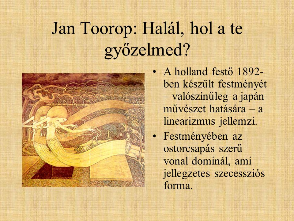 Jan Toorop: Halál, hol a te győzelmed.