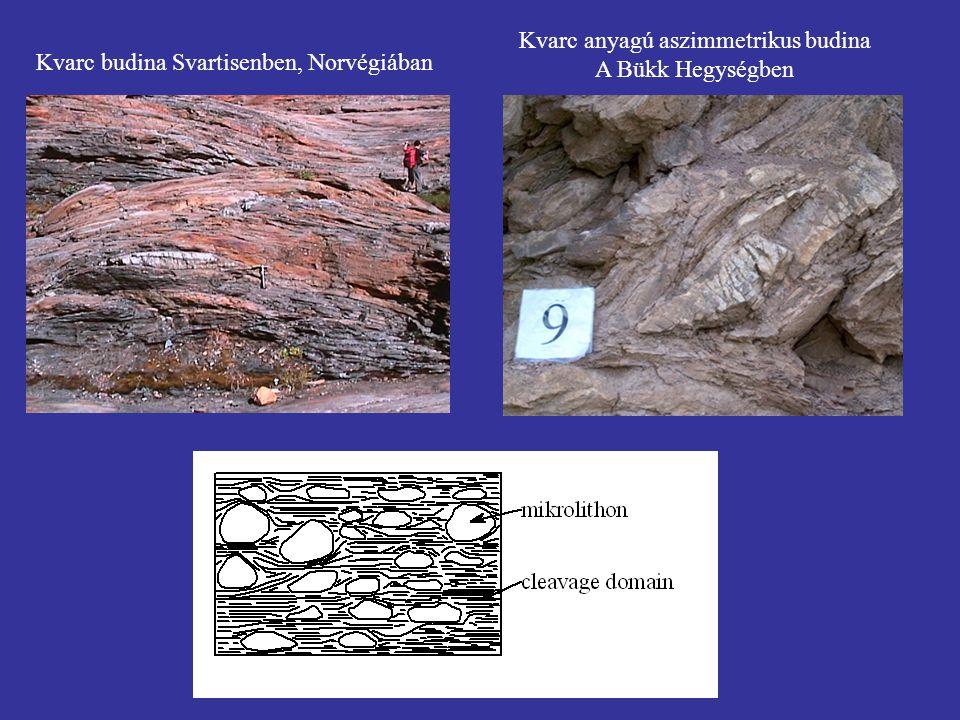 Kvarc budina Svartisenben, Norvégiában Kvarc anyagú aszimmetrikus budina A Bükk Hegységben