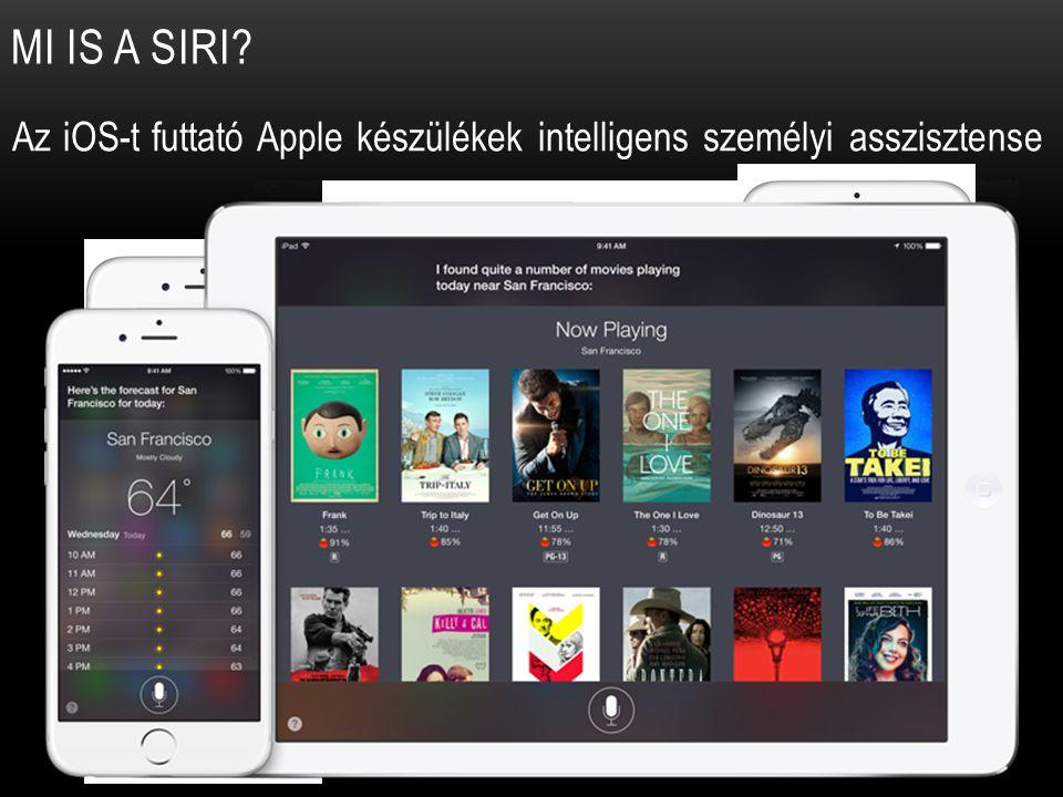 MI IS A SIRI? Az iOS-t futtató Apple készülékek intelligens személyi asszisztense
