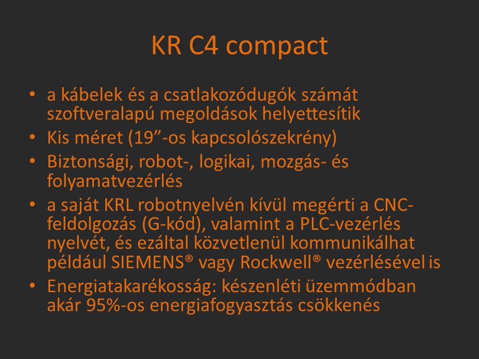 """a kábelek és a csatlakozódugók számát szoftveralapú megoldások helyettesítik Kis méret (19""""-os kapcsolószekrény) Biztonsági, robot-, logikai, mozgás-"""