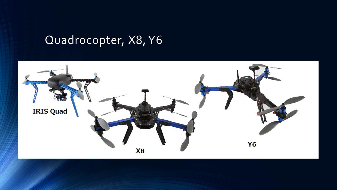 Quadrocopter, X8, Y6