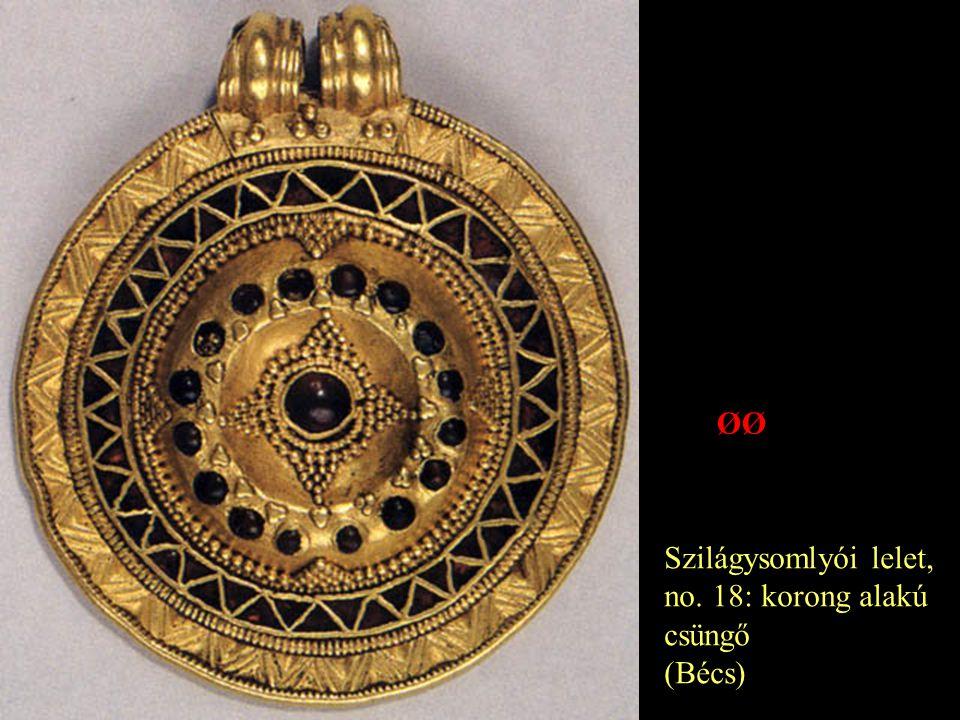 Szilágysomlyói lelet, no. 18: korong alakú csüngő (Bécs) ØØ