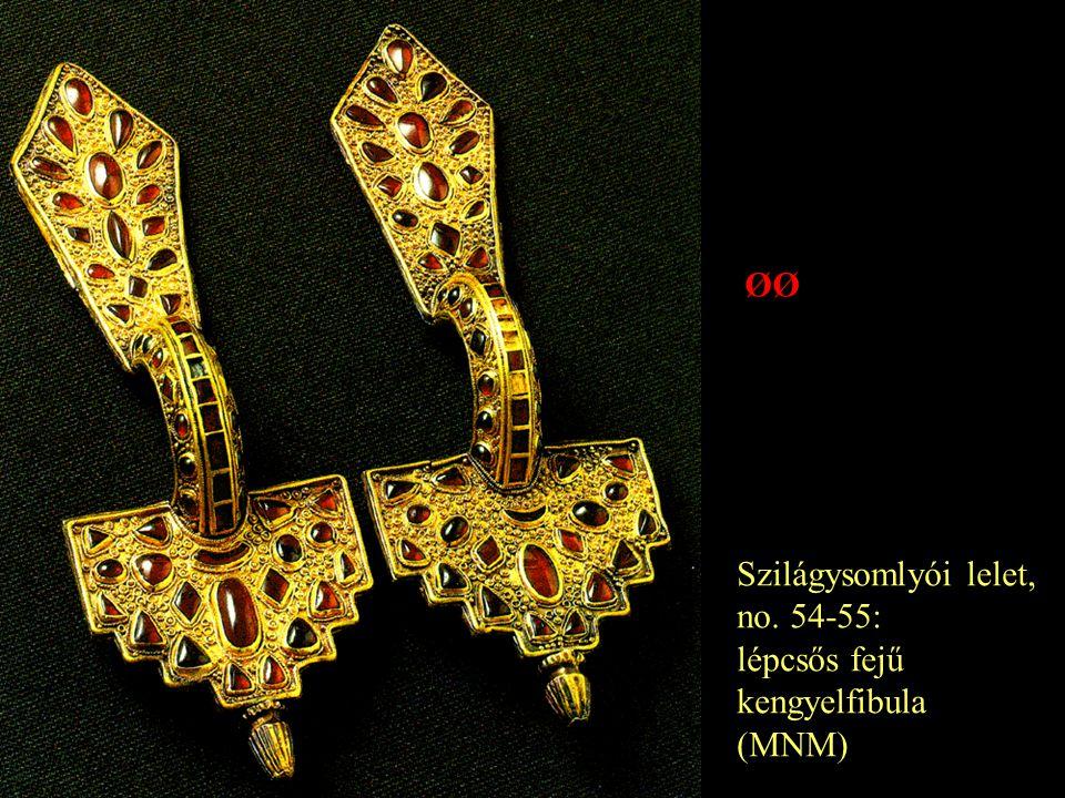 Szilágysomlyói lelet, no. 54-55: lépcsős fejű kengyelfibula (MNM) ØØ