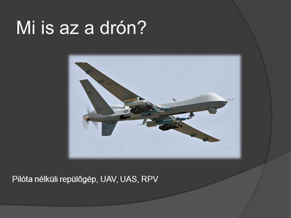 Mi is az a drón? Pilóta nélküli repülőgép, UAV, UAS, RPV